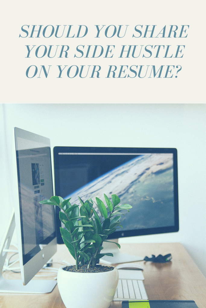side hustle on your resume