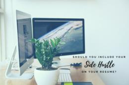 side hustle on your resume